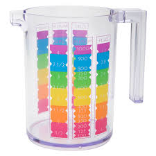 colorful measuring cup for sale rainbow zak style zak designs