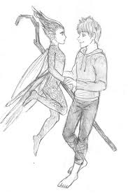 jack frost and tooth fairy sketch by katytorres on deviantart