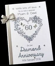 60th anniversary card messages diamond wedding card ebay