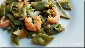 comment cuisiner les haricots plats wok de haricots coco plats crevettes gingembre oignons nouveaux