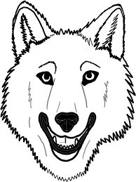 wolf face coloring pages animal coloring pages of