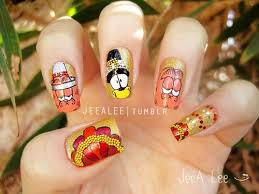 30 thanksgiving nail designs ideas trends stickers 2014