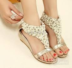 wedding shoes low wedges 2013 rome shiny beaded wedge sandals low heeled wedding shoes item