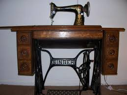 Singer Sewing Machine Desk Singer Sewing Machine With Cabinet Table Antique Appraisal