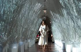 melania unveils white house decorations time