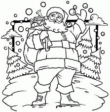 printable santa claus christmas coloring page christmas coloring