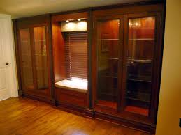 Kitchen Display Cabinets Custom Built In Cherry Display Cabinets By Two Rivers Woodworking
