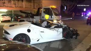 lamborghini crash lamborghini driver causes chain reaction crash nbc southern