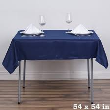 tablecloth for 54x54 table 54 x 54 navy blue wholesale seamless polyester square tablecloth