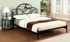 wrought iron headboard queen bed frame antique hairpin and rod