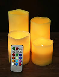 edge lighting change color home most set of 4 real wax led flameless color changing candles