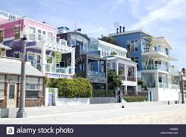 usa california los angeles venice beach houses beach stock
