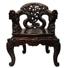 Chinese Armchair Chinese Carved Dragon Armchair At 1stdibs
