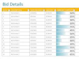 Bid Sheet Template Bids Sheet Template Free Spreadsheet Templates