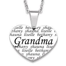 grandkids necklace 75 best grandmother necklace with names images on