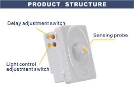 tdl 2100bj 220v bathroom motion sensor switch with wall mounted