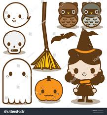 collection cute halloween icon vol1 stock vector 328609376