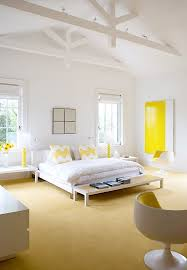 Yellow Accent Wall White Bedroom With Color Accents Moncler Factory Outlets Com