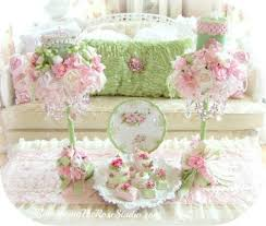 Shabby Chic Room Decor by Shabby Chic Candles And Holders Shabby Chic Pink And Green