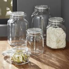 food storage containers glass and plastic crate and barrel