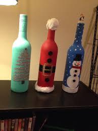 christmas wine bottle decor crafting for ideas xmas