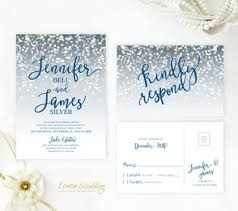 wedding invitations and rsvp silver wedding invitations lemonwedding