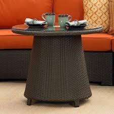High End Wicker Patio Furniture - malibu wicker high coffee table