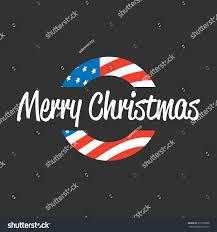 merry banner usa flag on stock vector 615109388