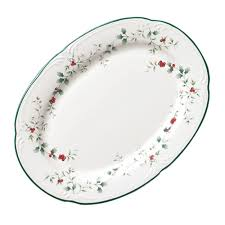 Overstock Bakers Rack Pfaltzgraff Winterberry 14 Inch Platter Free Shipping On Orders