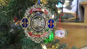 white house ornaments on display at bv historical society