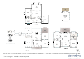 Cul De Sac Floor Plans 327 Georgica Road East Hampton Ny 11937 Sotheby U0027s