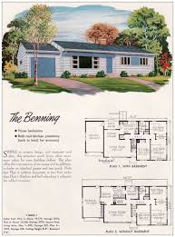 2 Bedroom House Plans With Basement House Plans 1950s 2 Bedroom Ranch House Designs Home Plans With