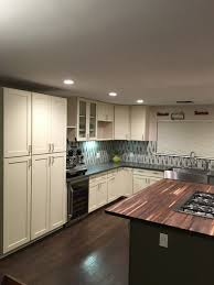 cream green shaker cabinets butcher block island counter cream green shaker cabinets butcher block island counter
