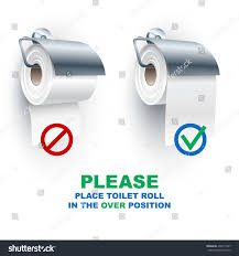 toilet paper roll under over position stock vector 438111097