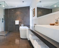 concrete ceiling lighting stained concrete floors bathroom modern with ceiling lighting