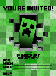 printable minecraft birthday invitation by invitationsbybelle