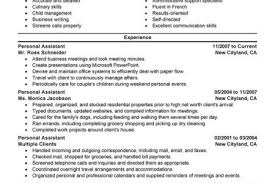 Personal Assistant Sample Resume by Full Time Nanny Resume Example Personal U0026 Services Sample Resumes
