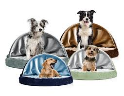 Hooded Dog Bed Snuggery Burrow Bed Faux Sheepskin Furhaven Pet Products