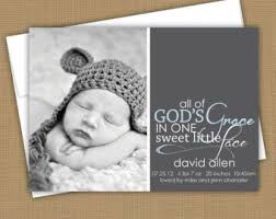birth announcement wording christian birth announcement custom photo card photo baby