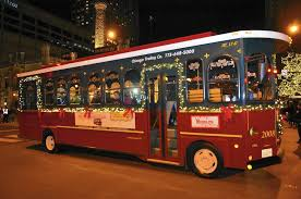 best christmas lights in chicago all aboard the holiday lights trolley chicago tribune
