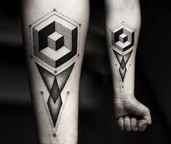 geometric black work