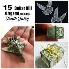 15 tutorials for dollar bill origami tooth fairy gifts dollar