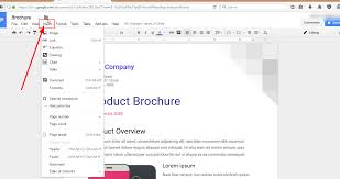 how to make a brochure on google docs guide 2017