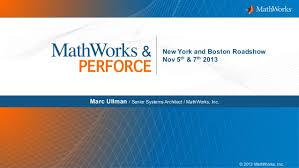 2013 perforce collaboration tour mathworks