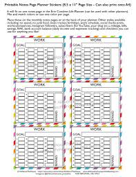 24 hour daily planner template how to use the monthly notes pages of your planner work routine schedule tracking hours printable rainbow planner