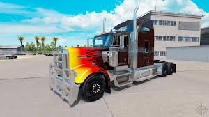2016 kenworth w900 hotrod skin for the kenworth w900 tractor for american truck simulator