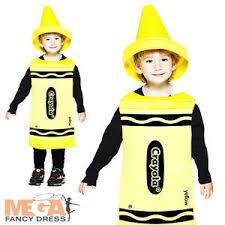 Crayon Halloween Costume Kids Yellow Crayola Crayon Fancy Dress Book Week Costume Child