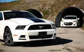 hyundai genesis vs nissan 370z 2013 hyundai genesis coupe vs ford mustang performance package