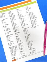 Bedroom Cleaning Checklist Pesach Cleaning Checklist For Passover And Beyond Free Printable