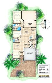 narrow waterfront house plans modern house plans narrow plan for lots six bedroom split with two